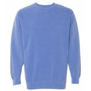ファッション トップス Comfort Colors Mens 9.5 oz. Garment-Dyed Fleece Crew 1566 Size S-3XL