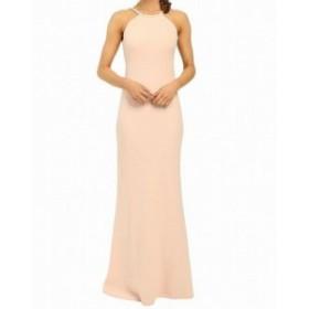 Ball ボール ファッション ドレス Calvin Klein NEW Light Pink Halter Bias Cut Womens Size 14 Ball Gown
