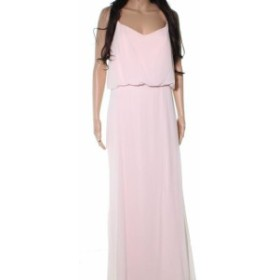 ファッション ドレス Levkoff NEW Pink Blouson Long Chiffon Womens Size 10 Evening Gown