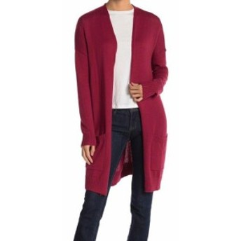 Red  ファッション トップス ABOUND NEW Red Womens Size XXL Plus Open-Front Long Cardigan Sweater