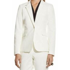 Blazer ブレザー ファッション フォーマル Vince Camuto NEW White Ivory Womens Size 4 Single Button Blazer