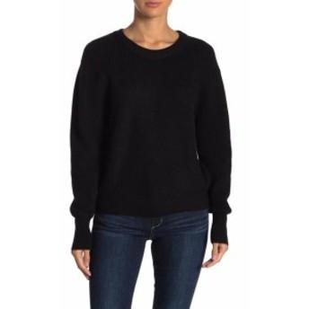 ファッション トップス Elodie Womens Deep Black Size XL Crewneck Ribbed Pullover Sweater
