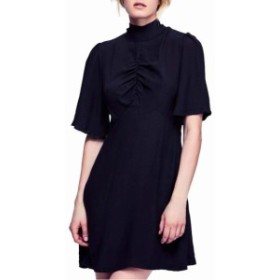 Free People フリーピープル ファッション ドレス Free People NEW Black Womens Size 2 Cinched Mock Neck 0A-Line Dress