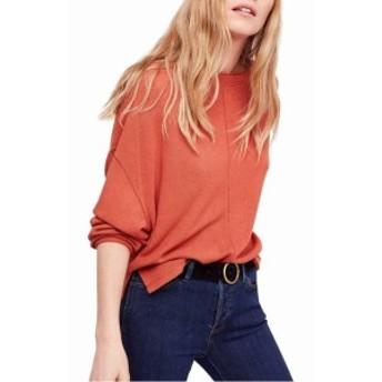 Free People フリーピープル ファッション トップス Free People Womens Orange Small S Dolman Side Split Pullover Sweater