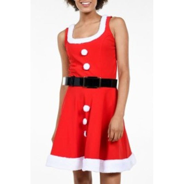 tipsy elves ティプシーエルヴィス ファッション 衣類 Tipsy Elves Costume Red Size Medium M Knit Mrs.Claus Belted Dress