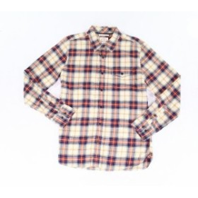 Plaid  ファッション アウター Fat Face NEW Beige Mens Size Small S Plaid Print Button Up Shirt
