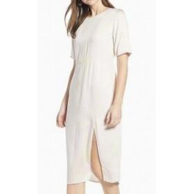 ファッション ドレス Something Navy NEW Pink Womens Medium M Front Slit Midi Sheath Dress