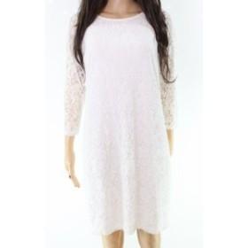 Laundry by Shelli Segal ランドリーバイシェルシーガル ファッション ドレス Laundry by Shelli Segal NEW White Floral Lace Womens 14