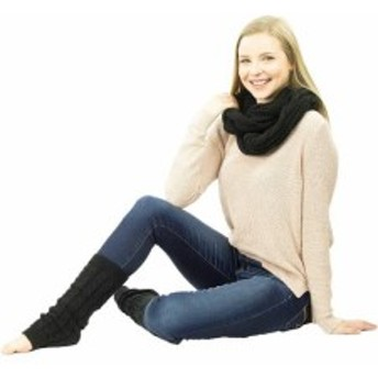 アクセサリー  Exotic Identity Infinity Scarf and Leg Warmers Cable Knit 2-Piece Gift Set Fl...