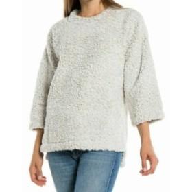 ファッション トップス Dylan NEW Beige Womens Size XS Faux Fur Sherpa Knit Pullover Sweater