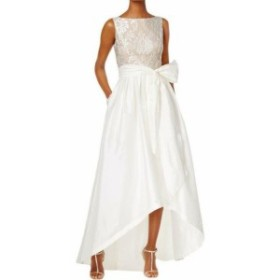 Adrianna Papell アドリアーナ パペル ファッション ドレス Adrianna Papell NEW White Nude Womens Size 6 Embroidered Lace Gown