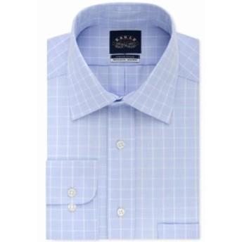 Plaid  ファッション ドレス Eagle NEW Blue Mens Size 17 Classic Regular Fit Plaid Print Dress Shirt