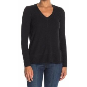 ファッション トップス H By Bordeaux NEW Black Womens Size Medium M V-Neck Knit Sweater