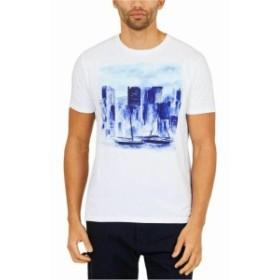 nautica ノーティカ ファッション トップス Nautica Men T-Shirt White Size Small S Artist Series Skyline Graphic Tee
