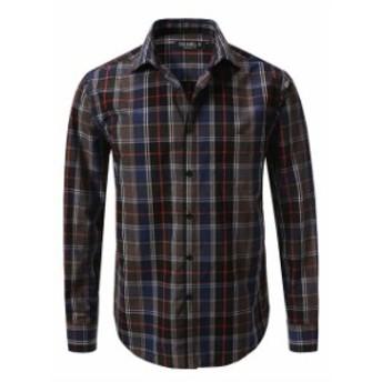 ファッション アウター Daniel K Mens Long Sleeve Cotton Button Down Shirt