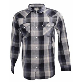 Levis リーバイス ファッション アウター NEW LEVIS MENS CLASSIC COTTON BUTTON UP LONG SLEEVE PLAID SHIRT CHARCOAL-6092