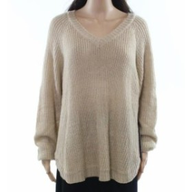 ファッション トップス Olivia Sky NEW Beige Womens Size XL V-Neck Knitted Solid Sweater