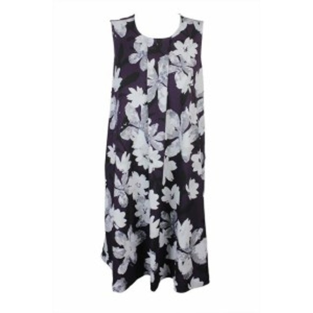 plum プラム ファッション ドレス Alfani Plus Size Plum Floral-Print A-Line Dress 22W
