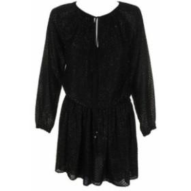Michael Kors マイケルコルス ファッション ドレス Michael Michael Kors Black Metallic Jacquard Long-Sleeve Fully Lined Dress S
