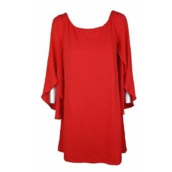 Jessica Simpson ジェシカシンプソン ファッション ドレス Jessica Simpson Hot Coral Cape Sleeve Bow Back Shift Dress 10