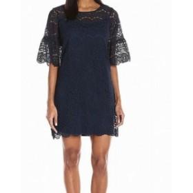 Shift  ファッション ドレス Tiana b Womens Navy Blue Size 12 Floral Lace Illusion Shift Dress