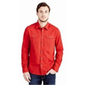 Religion  ファッション アウター True Religion Mens Long Sleeve Utility Woven Button Front Shirt