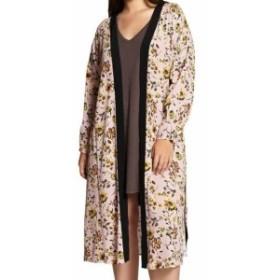 "Sanctuary サンクチュアリ ファッション トップス Sanctuary NEW Pink Womens Size ""One Size"" Floral Print Kimono Sweater"