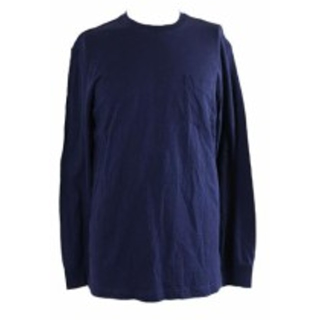 ファッション トップス Club Room Navy Long-Sleeve Crew Neck T-Shirt S