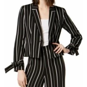 Blazer ブレザー ファッション フォーマル Nine West NEW Black Womens Size 6 One Button Striped Tie Sleeve Blazer