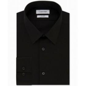 Calvin Klein カルバンクライン ファッション ドレス Calvin Klein NEW Black Mens Size 17 1/2 Steel Slim Fit Dress Shirt