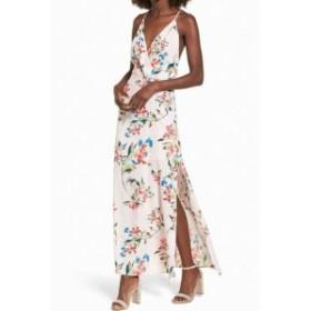 Lush ラッシュ ファッション ドレス LUSH NEW Pink Womens Size Medium M Floral Print V-neck Maxi Dress