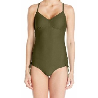 Prana プラナ スポーツ用品 スイミング Prana NEW Army Green Womens Size Small S One-Piece Side-Tied Swimwear #846