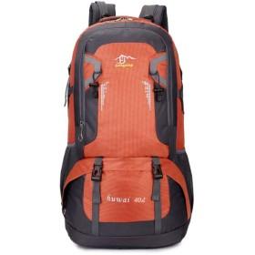 屋外の登山バッグの男性と女性の防水ショルダーバッグレジャー旅行のバックパックの韓国語バージョン,オレンジ