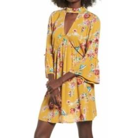 Band of Gypsies バンドオヴジプシーズ ファッション ドレス Band of Gypsies NEW Yellow Womens Size XS Floral Print Shift Dress