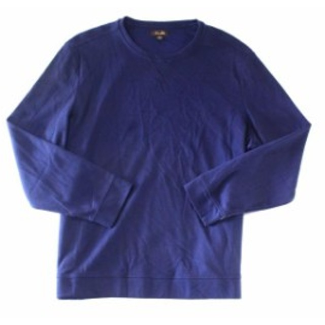 ファッション トップス Tasso Elba Mens Sweater Navy Blue Size Medium M Crewneck Pullover