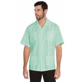 ファッション アウター vkwear Mens Guayabera Cuban Beach Wedding Casual Short Sleeve Dress Shirt