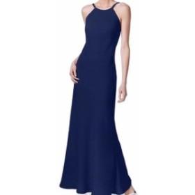 Calvin Klein カルバンクライン ファッション ドレス Calvin Klein NEW Blue Womens Size 12 Open Back Halter Gown Dress
