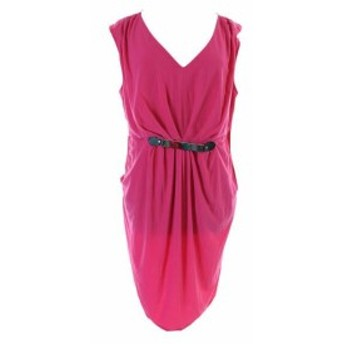 ファッション ドレス NY Collection NEW Magenta Plus Size Sleeveless Hardware Dress 1 x