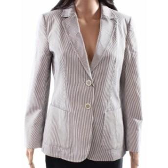 Blazer ブレザー ファッション フォーマル WEEKEND MAX MARA NEW Gray Womens Size 8 Pinstripe Blazer Jacket