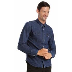 Levis リーバイス ファッション アウター Levis Mens Pearl Snap Barstow Western Casual Denim Dress Shirt 658190099