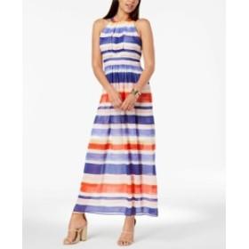 Vince ヴィンス ファッション ドレス Vince Camuto NEW White Womens Size 8 Striped Chiffon Maxi Dress