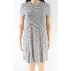 Soprano ソプラノ ファッション ドレス Soprano NEW Black White Striped Womens Size Small S T-Shirt Dress