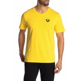 Religion  ファッション トップス True Religion Mens Classic Horseshoe Logo V-Neck Tee T-Shirt