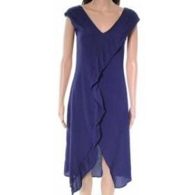 spirit スピリット ファッション ドレス Spirit of Grace NEW Blue Ruffle V-Neck Womens Size XS A-Line Dress