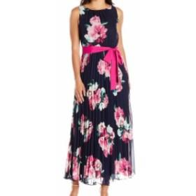 Jessica Howard ジェシカハワード ファッション ドレス Jessica Howard Womens Blue Size 10P Petite Pleated Floral Maxi Dress