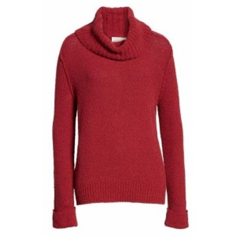 Red  ファッション トップス Caslon Womens Sweater Red Size XXL Cowl Neck Cuff Sleeve Rib-Trim