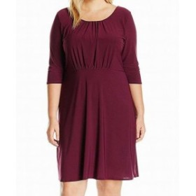 star スター ファッション ドレス Star Vixen NEW Purple Womens Size 2X Plus Crossback Skater Dress