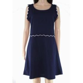 ファッション ドレス The Vanity Room Womens Dress Blue Size Medium M Sheath Contrast-Trim