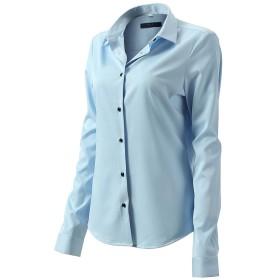 シャツ レディーズ 長袖 ワイシャツ 女性 ビジネスウェア オフィス制服 通勤着 スリム 長袖 ワイシャツ 竹繊維 形態安定 レギュラーカラー 綿 Yシャツ おしゃれ 7色