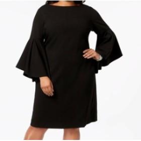 bell ベル ファッション ドレス Betsey Johnson Womens Sheath Dress Black Size 16W Plus Bell Sleeve